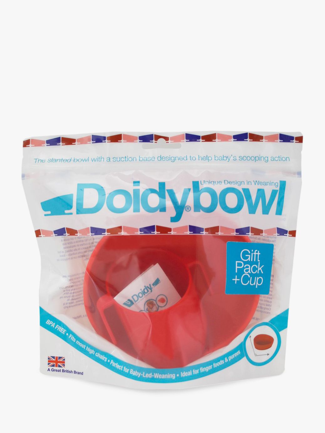 Bickiepegs Bickiepegs Doidy Cup & Bowl Gift Pack, Red