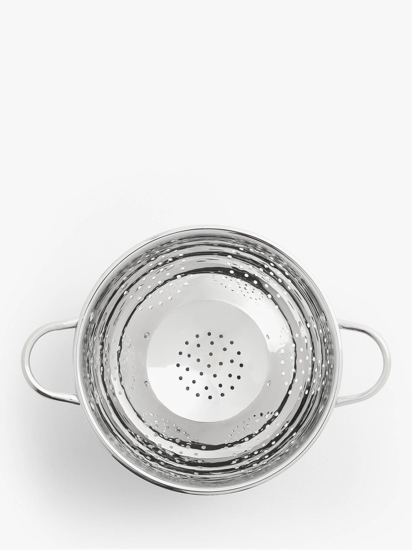Buy John Lewis & Partners Stainless Steel Footed Colander, Dia.27cm Online at johnlewis.com