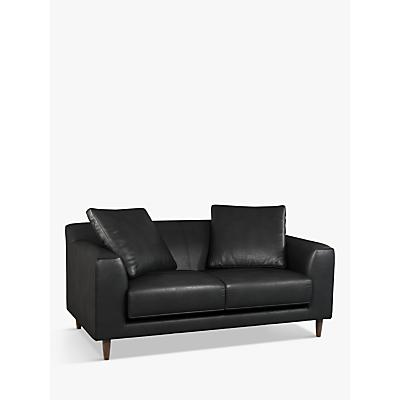 John Lewis & Partners Billow Medium 2 Seater Leather Sofa, Dark Leg