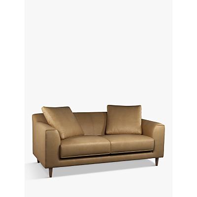 John Lewis & Partners Billow Large 3 Seater Leather Sofa, Dark Leg