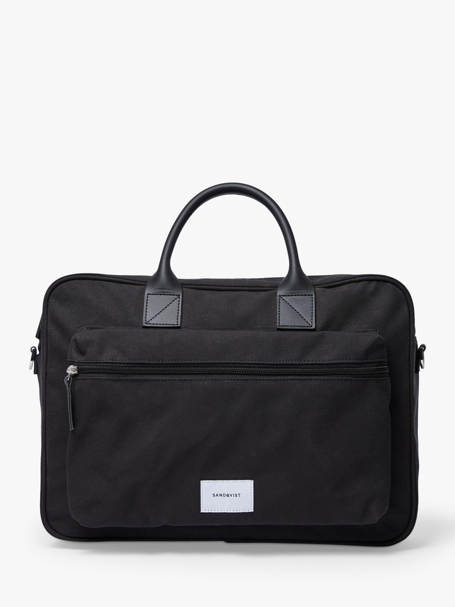 Sandqvist Sandqvist Emil Organic Cotton Crossbody Briefcase, Black