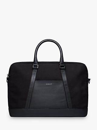 Sandqvist Melker Organic Cotton Briefcase, Black