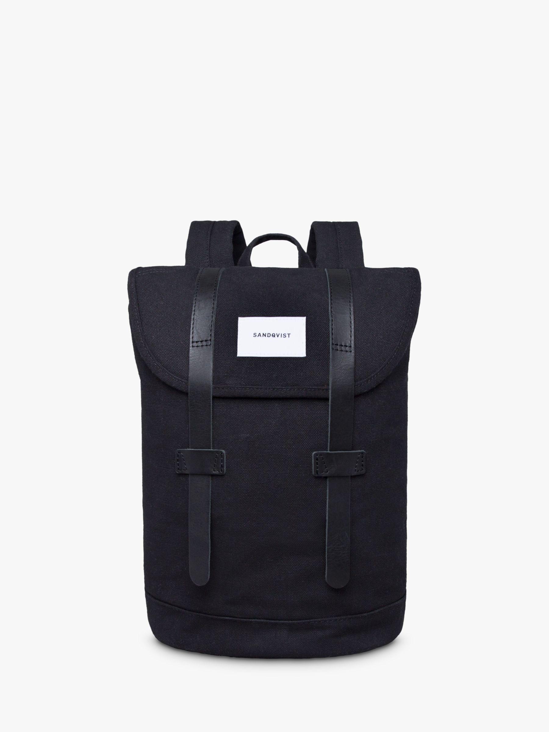 Sandqvist Sandqvist Stig Organic Cotton Backpack, Black