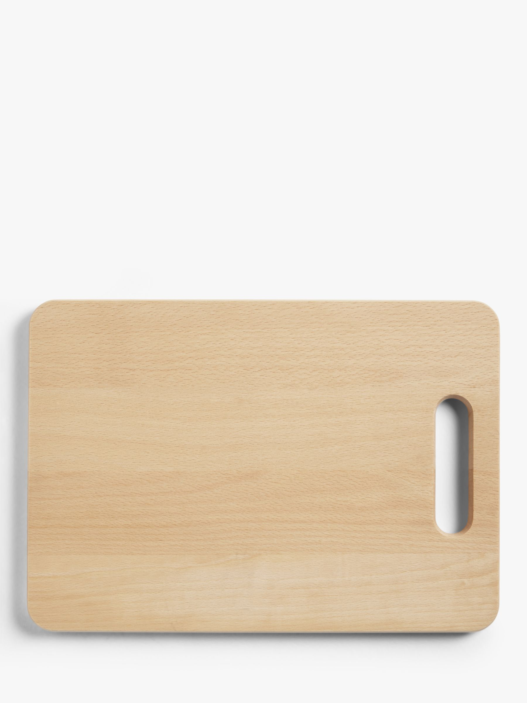 John Lewis Partners Chopping Board With Handle Fsc Certified Beech Wood L38cm At John Lewis Partners