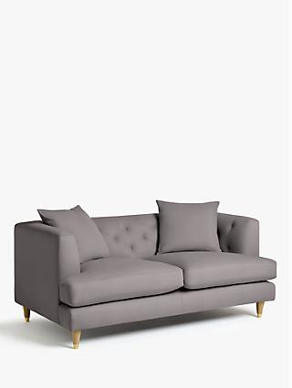 John Lewis & Partners Chester Medium 2 Seater Sofa, Light Leg, Lucca Umber Velvet