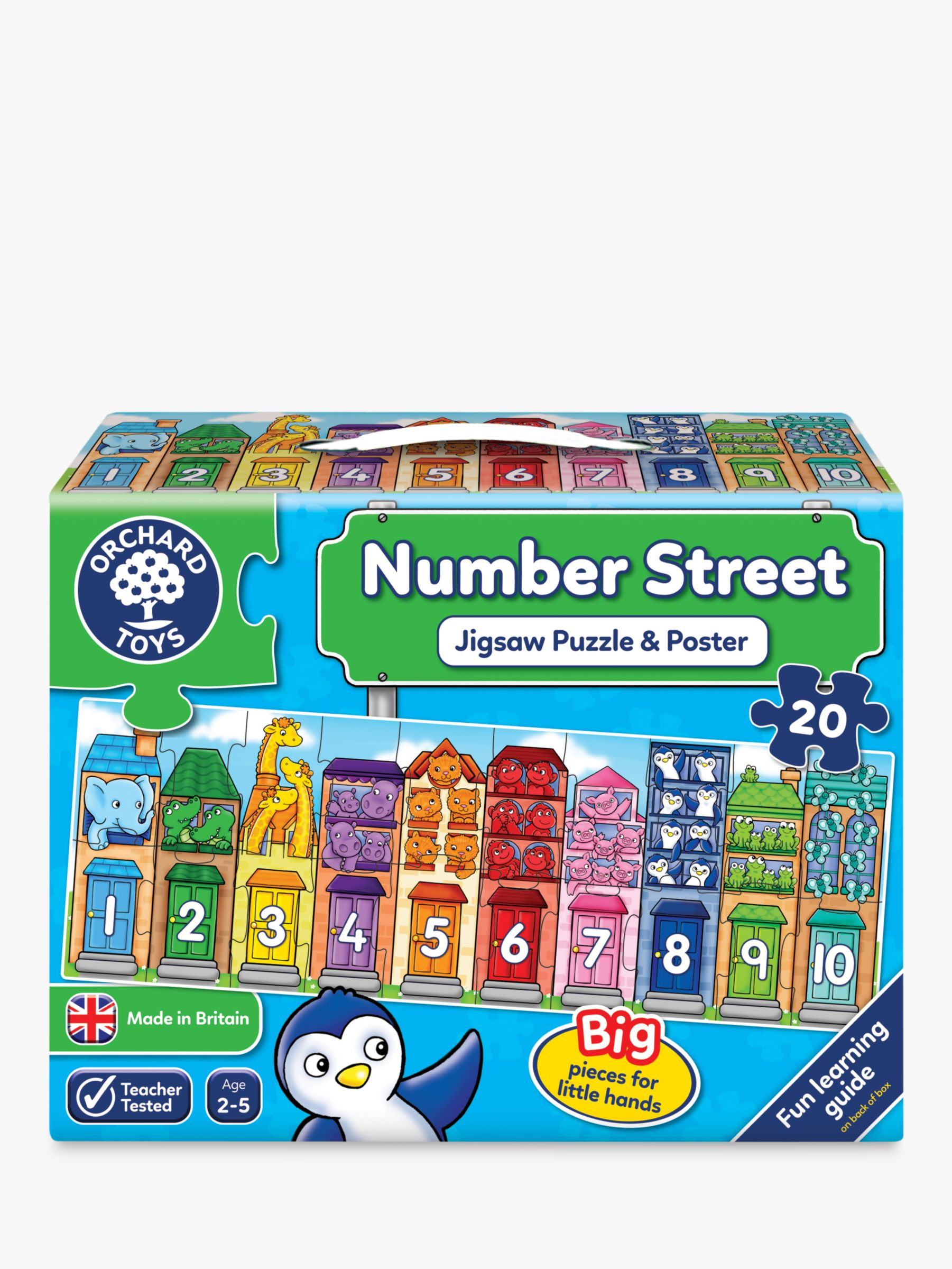 Orchard Toys Orchard Toys Number Street Jigsaw Puzzle and Poster