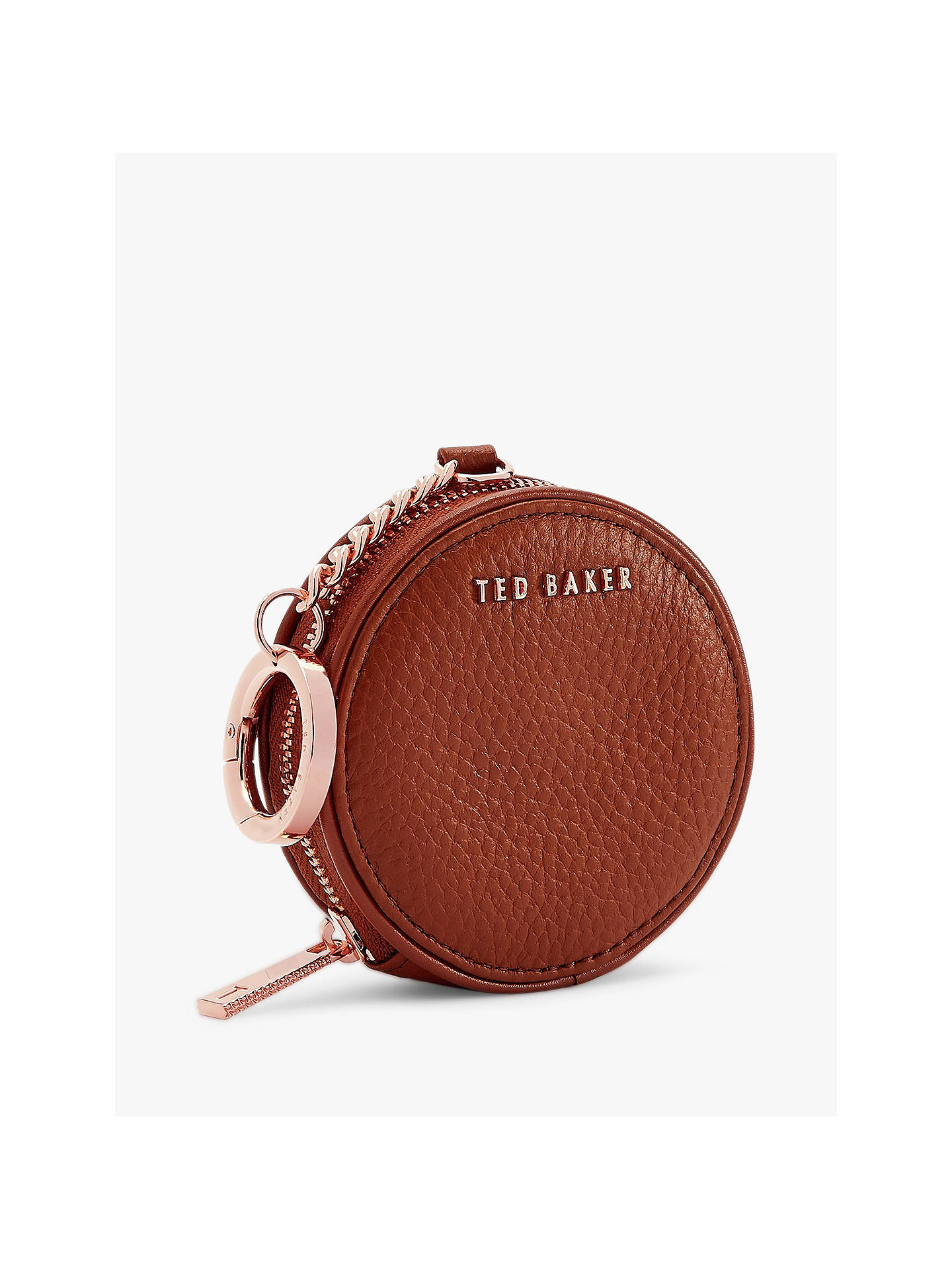 56a31e59c Ted Baker Marlida Leather Coin Purse Keyring at John Lewis   Partners