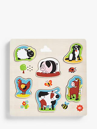 John Lewis & Partners Wooden Farm Sounds Puzzle