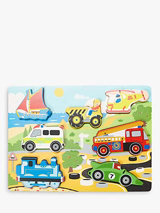 John Lewis & Partners Wooden Transport Puzzle