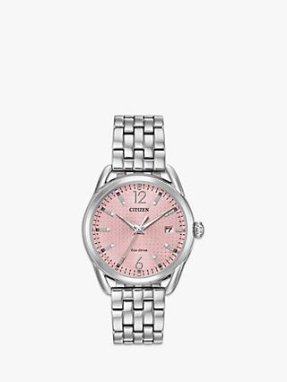 23ffc04bc Citizen Women's Silhouette Eco-Drive Date Bracelet Strap Watch