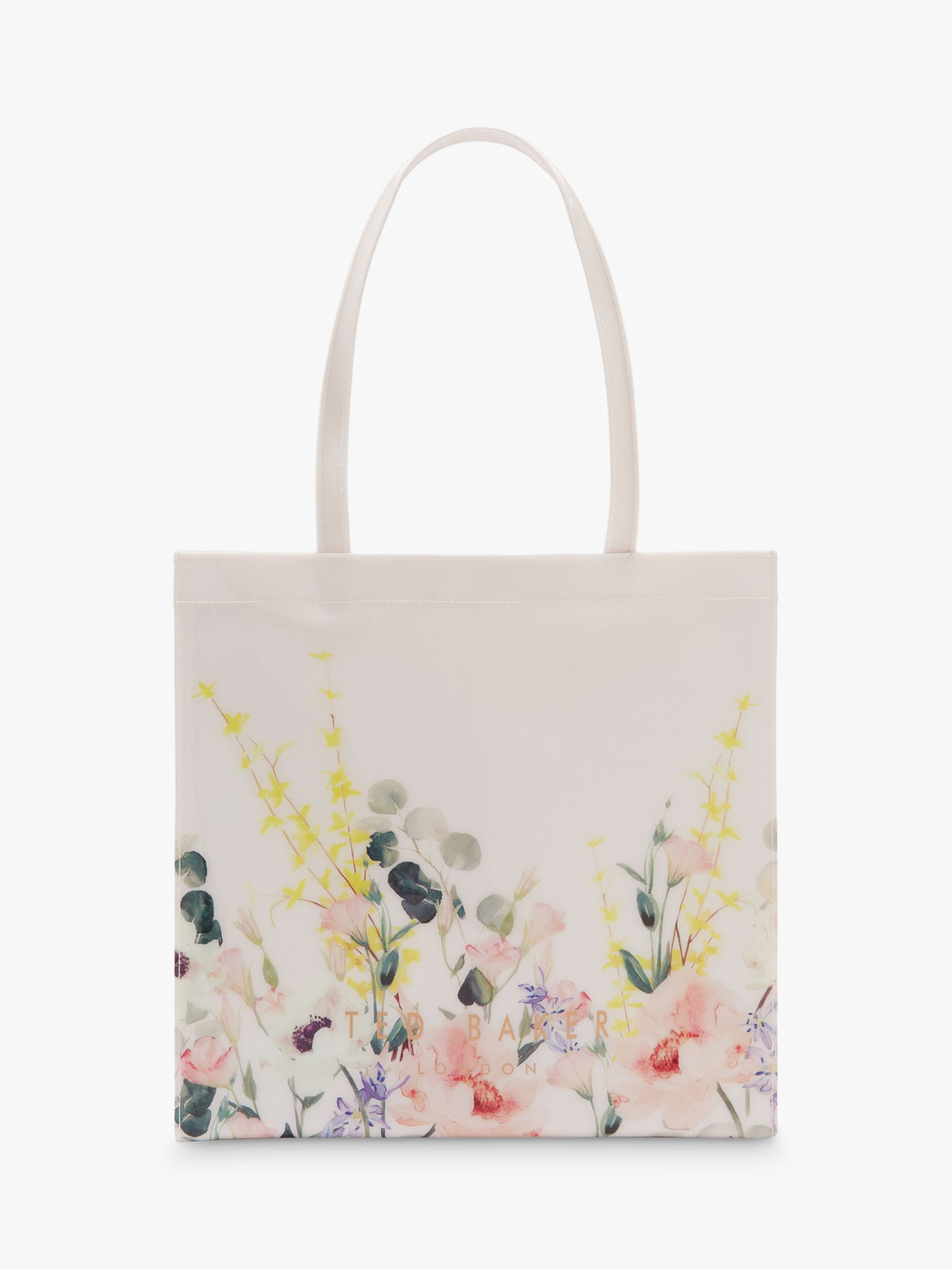bf7b4bb6 Ted Baker Annacon Elegant Print Small Shopper Bag, Pink/Nude at John Lewis  & Partners