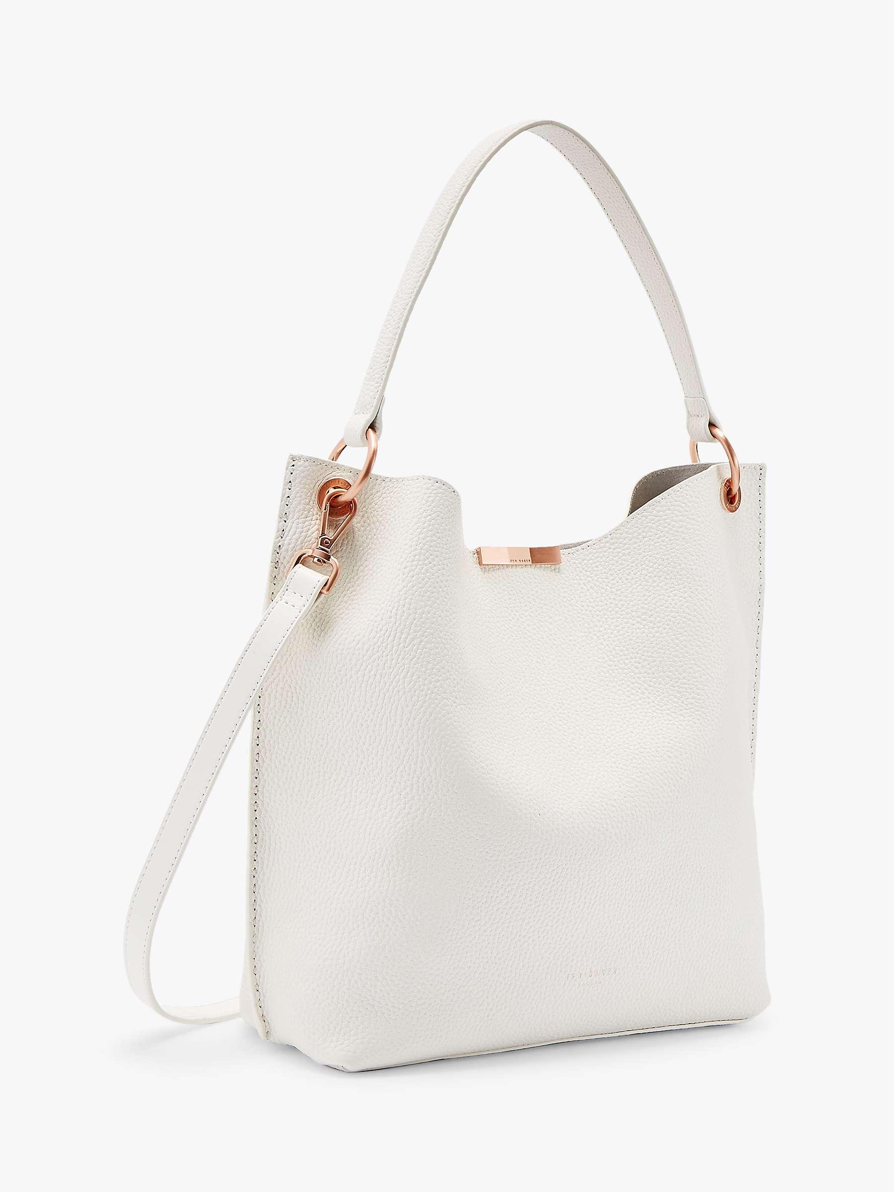 Ted Baker Cane Leather Hobo Bag White