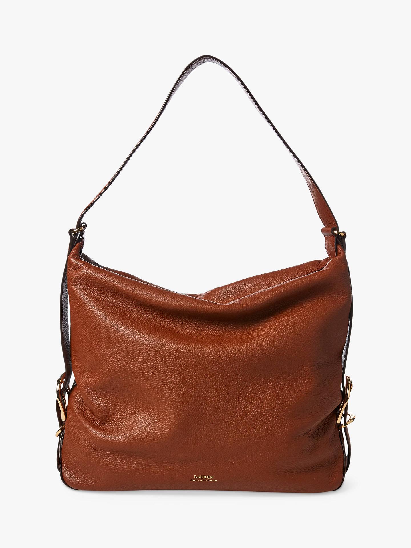 a0d817e95 Buy Lauren Ralph Lauren Cornwall Slouchy Leather Hobo Bag, Tan Online at  johnlewis.com ...