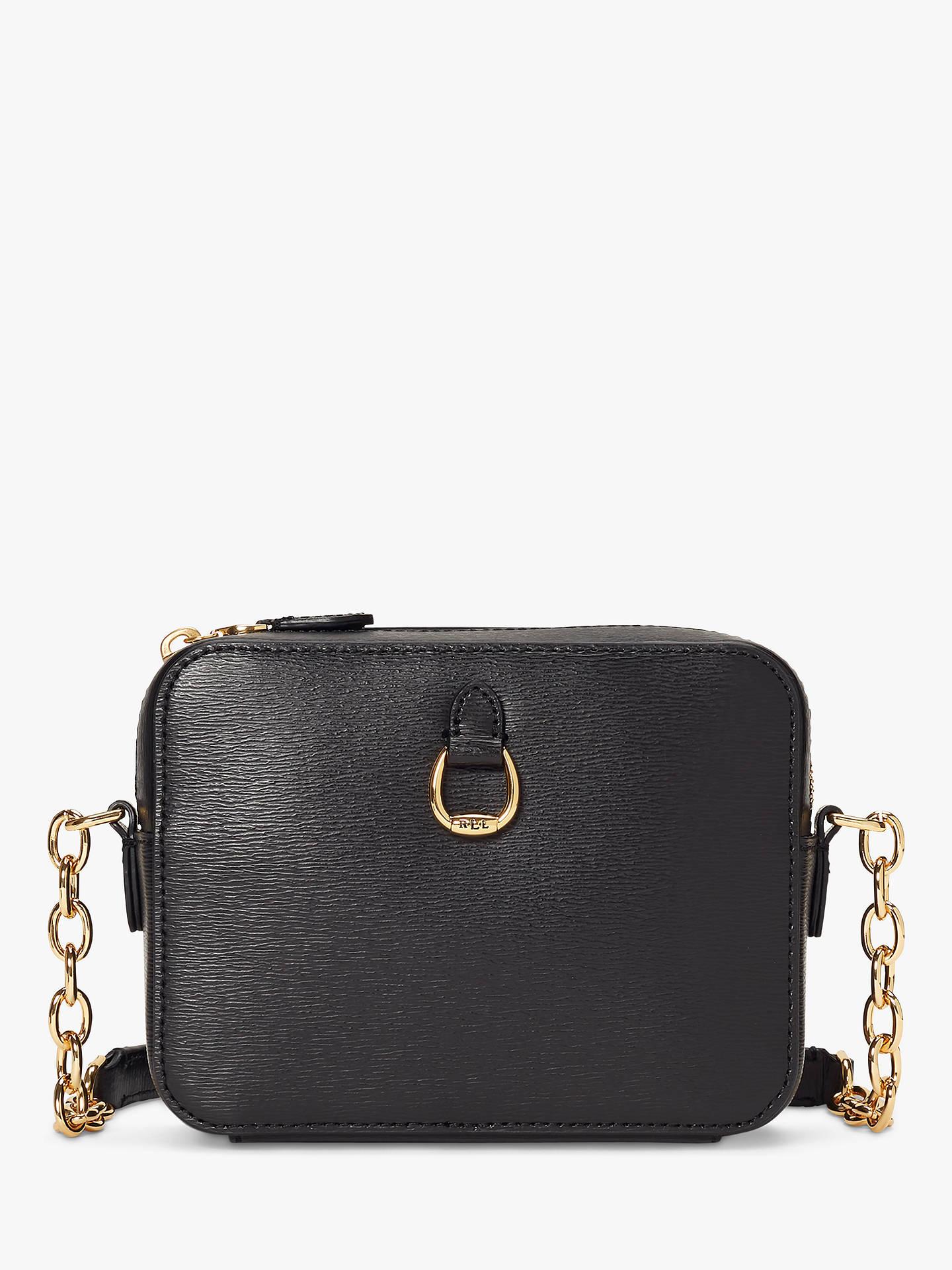 babf310aa Buy Lauren Ralph Lauren Bennington Leather Camera Cross Body Bag, Black  Online at johnlewis.