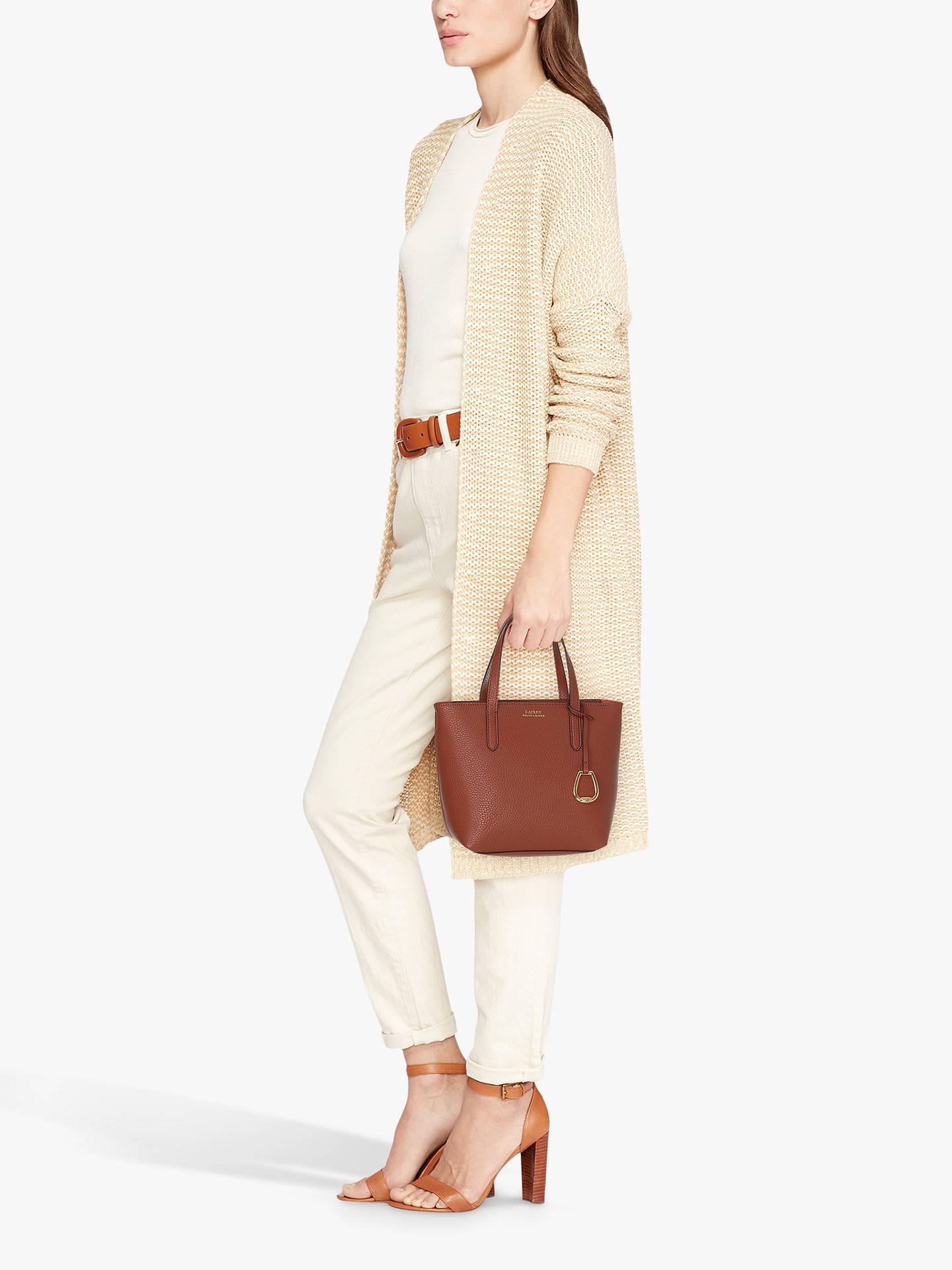 0cc9606ef Buy Lauren Ralph Lauren Merrimack Small Tote Bag, Tan/Orange Online at  johnlewis.