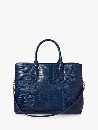 1a6cf03ad Lauren Ralph Lauren Dryden Marcy Croc Effect Leather Satchel Bag