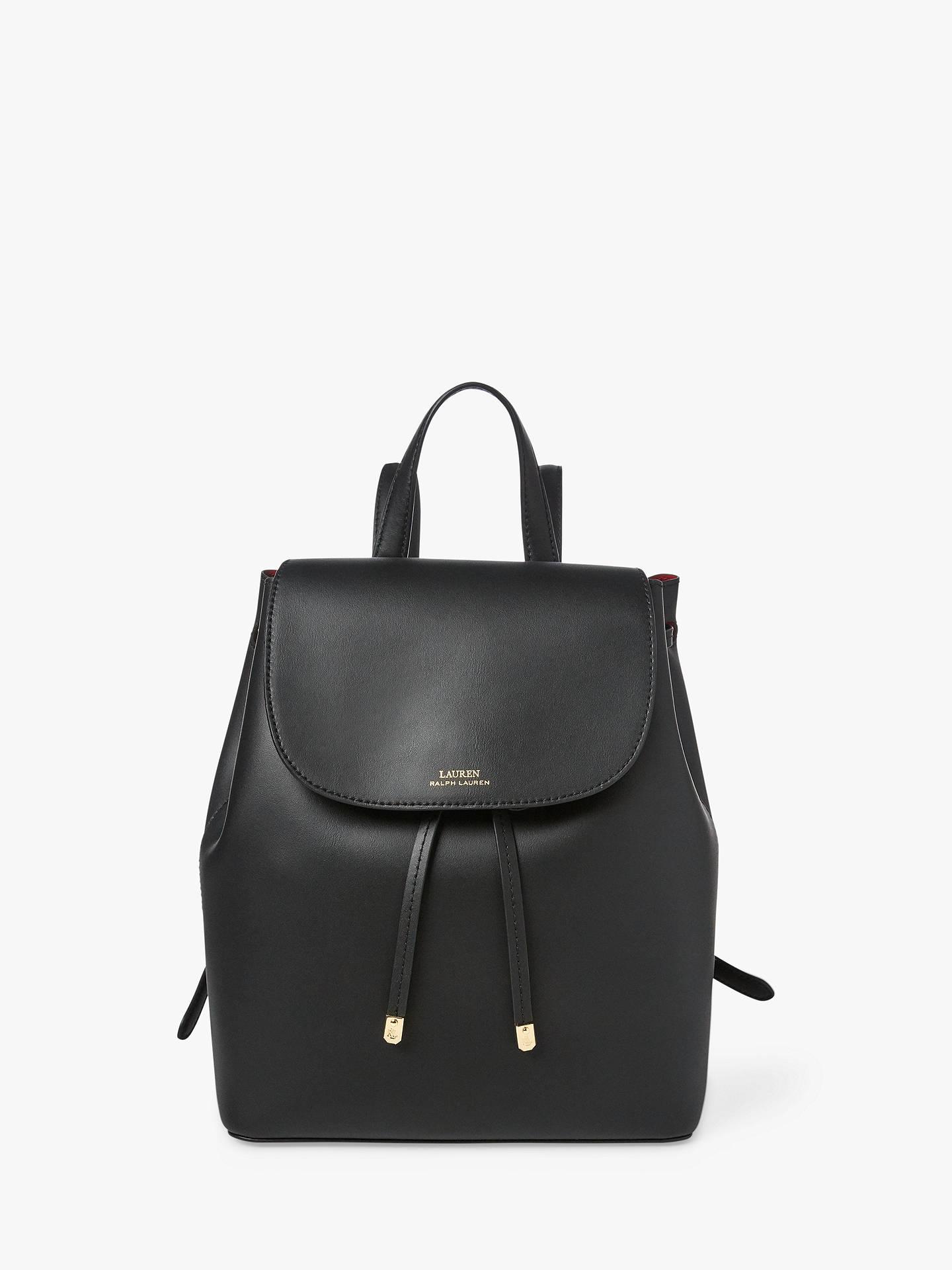 lauren-ralph-lauren-dryden-leather-backpack,-black_crimson by ralph-lauren