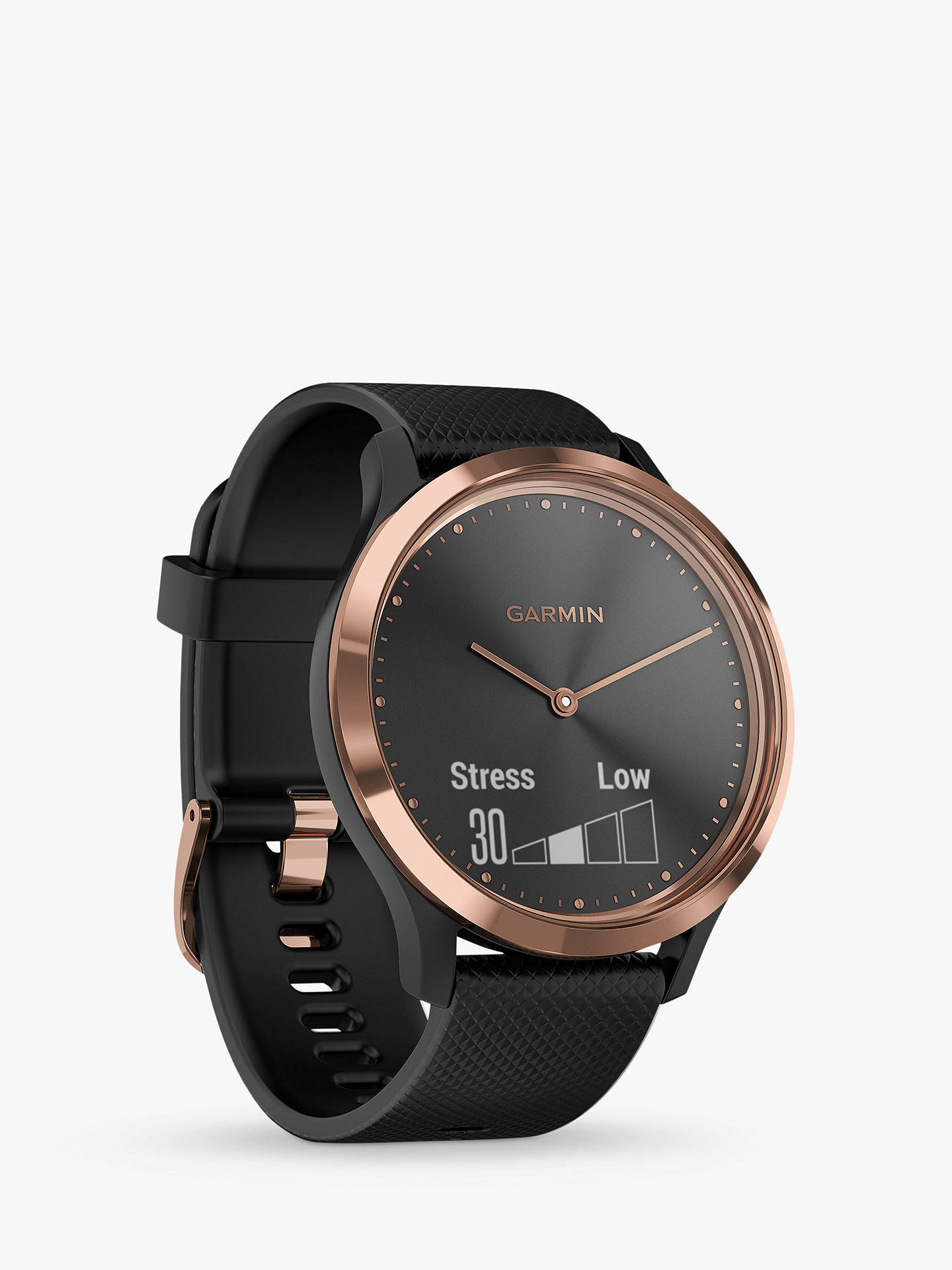Garmin Vivomove Hr Sport Smartwatch, Small/Medium,, Black/ Rose Gold by Garmin