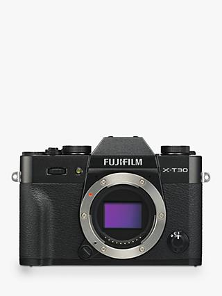 "Fujifilm X-T30 Compact System Camera, 4K Ultra HD, 26.1MP, Wi-Fi, OLED EVF, 3"" LCD Touch Screen, Body Only"