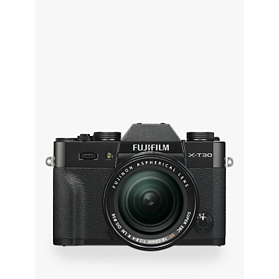 Fujifilm X-T30 Compact System Camera with XF 18-55mm OIS Lens, 4K Ultra HD, 26.1MP, Wi-Fi, OLED EVF, 3� LCD Touch Screen
