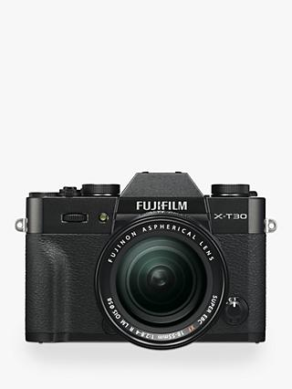 "Fujifilm X-T30 Compact System Camera with XF 18-55mm OIS Lens, 4K Ultra HD, 26.1MP, Wi-Fi, OLED EVF, 3"" LCD Touch Screen"