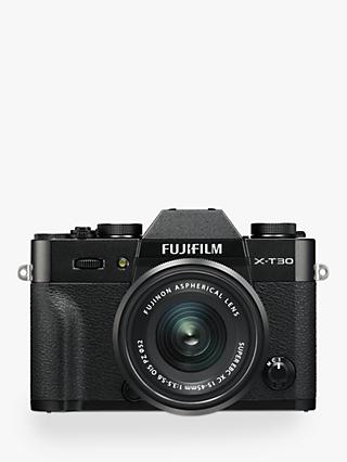 "Fujifilm X-T30 Compact System Camera with XC 15-45mm OIS Lens, 4K Ultra HD, 26.1MP, Wi-Fi, OLED EVF, 3"" LCD Touch Screen"