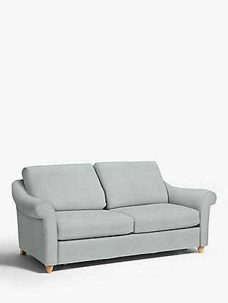 John Lewis & Partners Camber Sofa Bed, Light Leg, Aquaclean Matilda Duck Egg