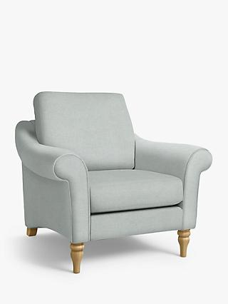 John Lewis & Partners Camber Armchair, Light Leg, Aquaclean Matilda Duck Egg