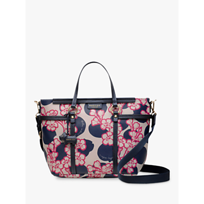 Radley Blossom Spot Medium Multiway Grab Bag, Multi/Grey