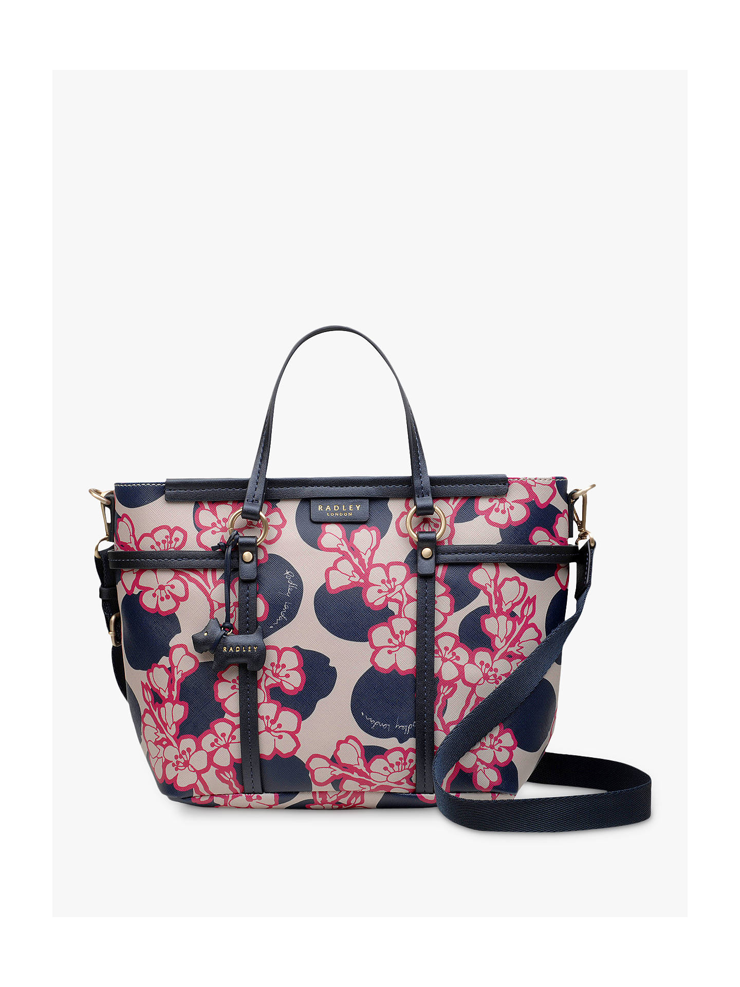 d704d7719b Buy Radley Blossom Spot Medium Multiway Grab Bag, Multi/Grey Online at  johnlewis.
