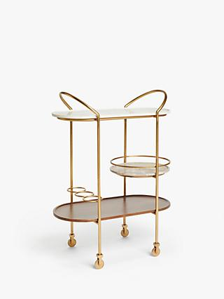 John Lewis & Partners + Swoon Raine Bar Cart, Gold
