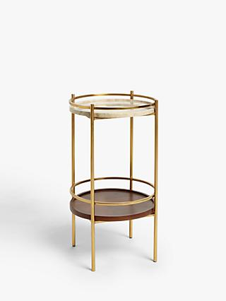 John Lewis & Partners + Swoon Raine Marble Side Table, Gold
