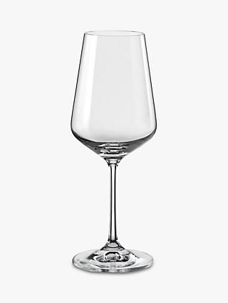 Dartington Crystal Simplicity White Wine Glasses, 250ml, Set of 6, Clear