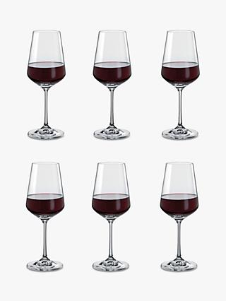 75390648 Dartington Crystal Simplicity Red Wine Glasses, 350ml, Set of 6, Clear