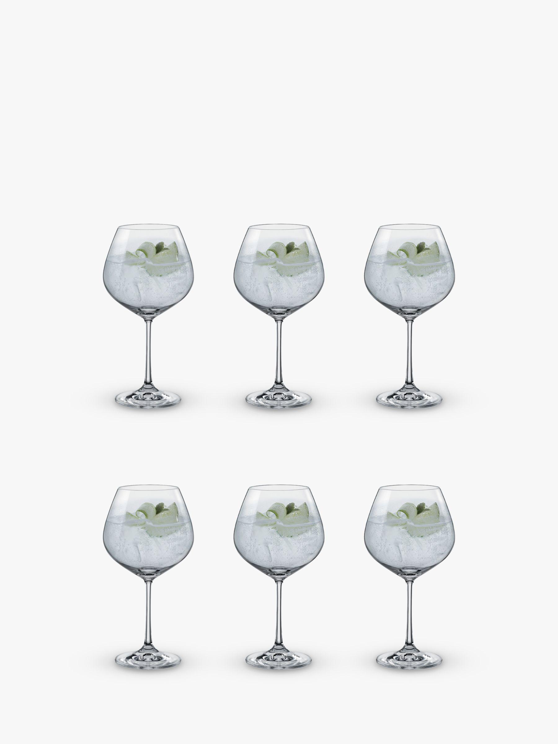 Dartington Crystal Simplicity Copa Gin Glasses, 570ml, Set of 6, Clear