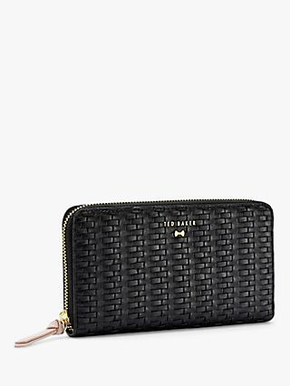 b8225fd6c Ted Baker Rumer Raffia Zip Around Purse