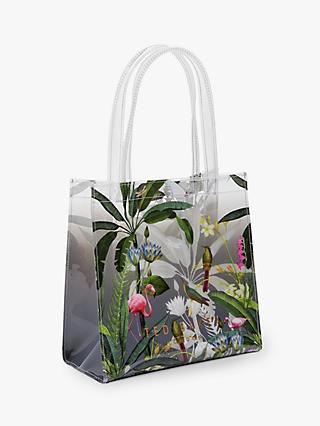 12647c0b2097 Ted Baker Lylecon Pistachio Clear Small Icon Shopper Bag, Light Grey