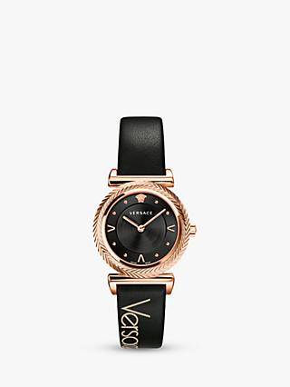 e2155c74b3fc5 Versace VERE00818 Women's Leather Strap Watch, ...