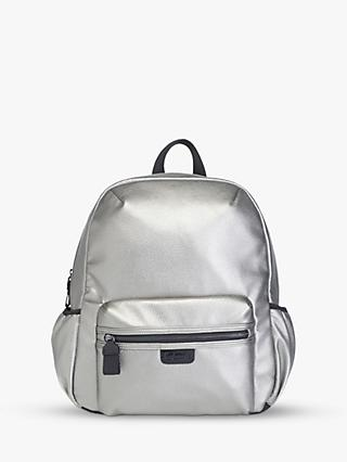 b57bb58dd8 Babymel Luna Vegan Leather Backpack Changing Bag, Pewter