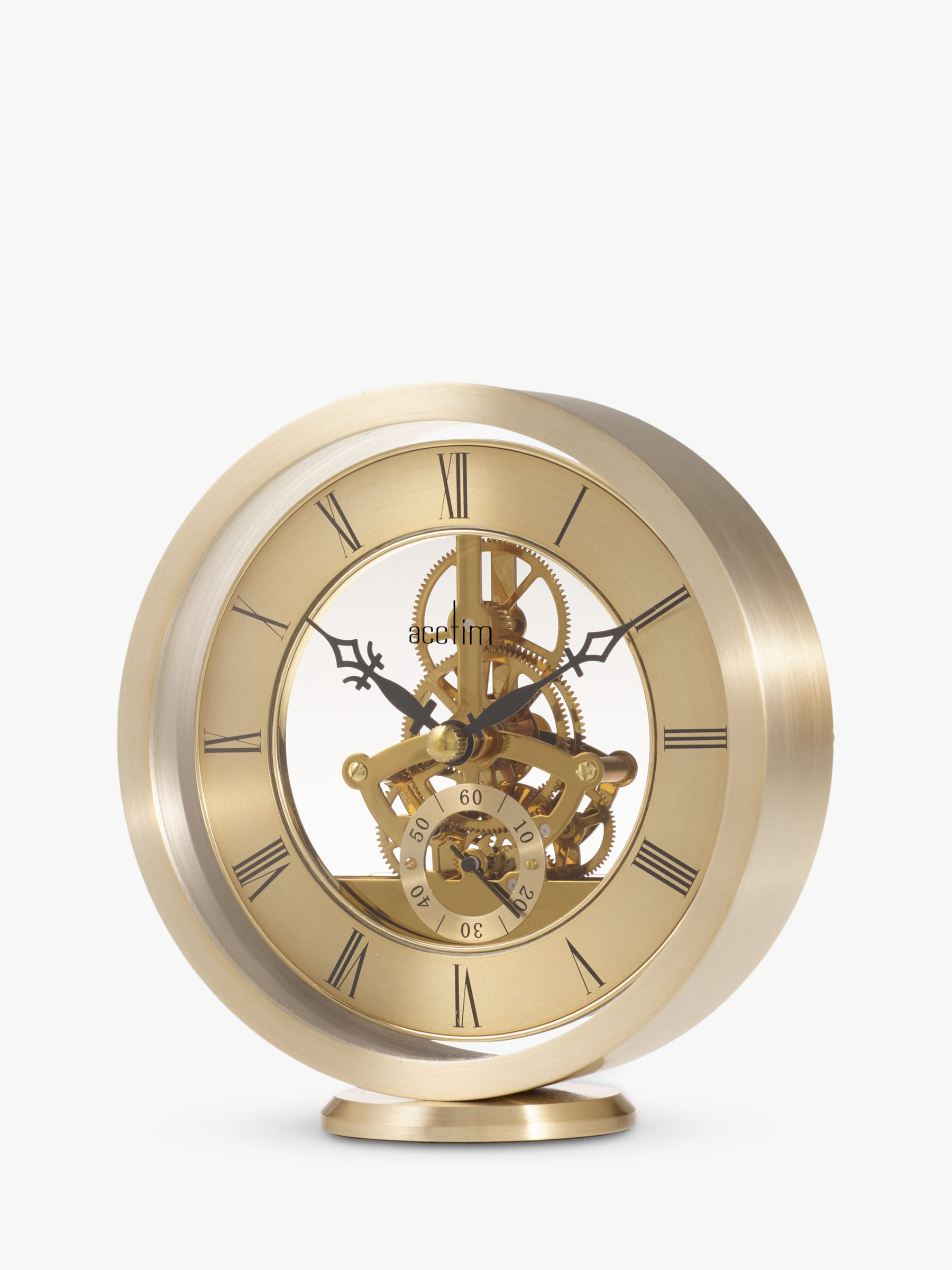 Acctim Acctim Milledon Skeleton Mantel Carriage Clock, Gold, 13cm