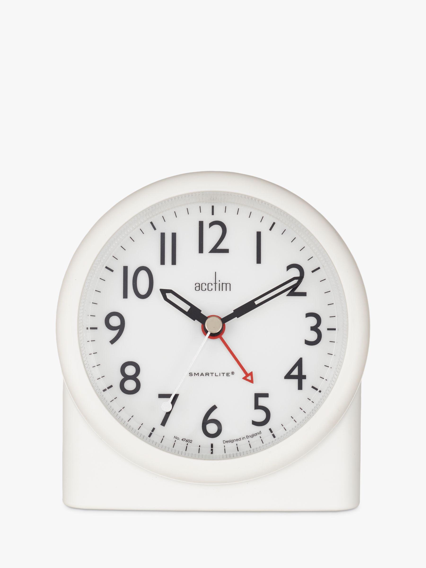 Acctim Acctim Blake Smartlite Sweep Alarm Clock, White