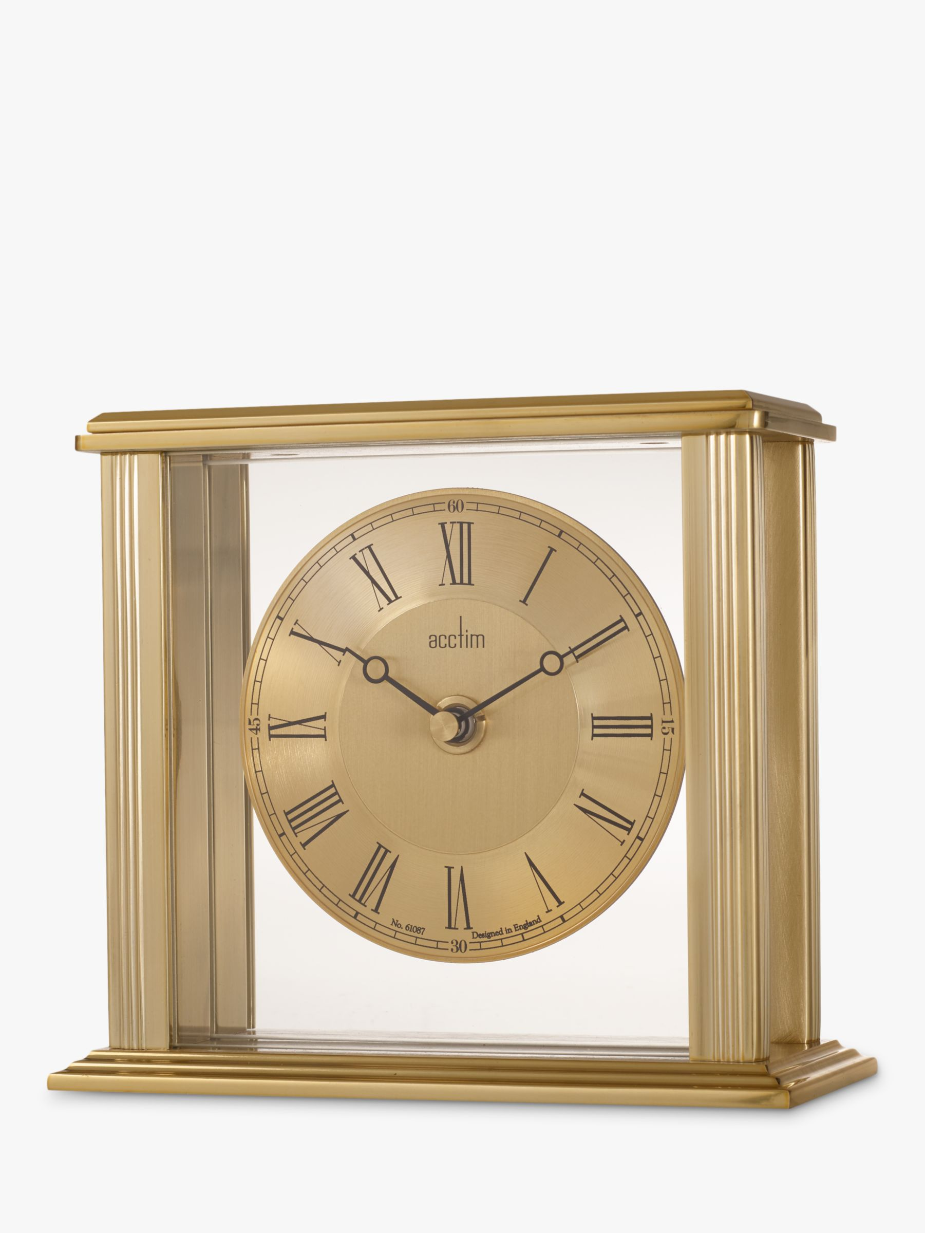 Acctim Acctim Gayhurst Mantel Clock, Gold, H14cm