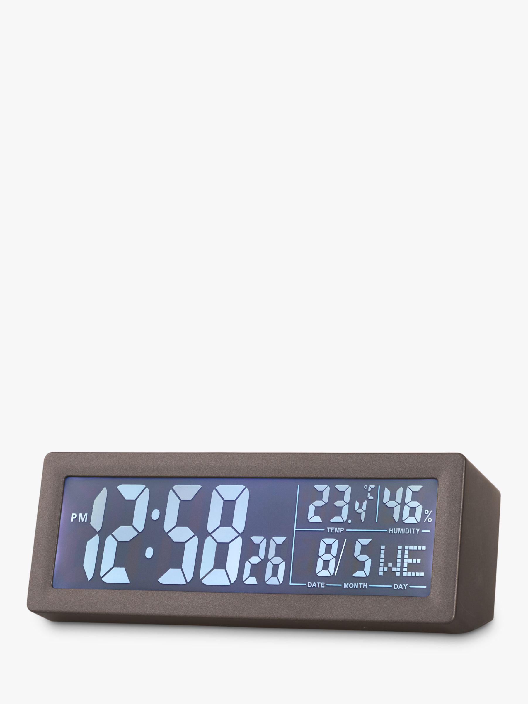 Acctim Acctim Karminski Reflection Display LCD Digital Alarm Clock, Dark Grey