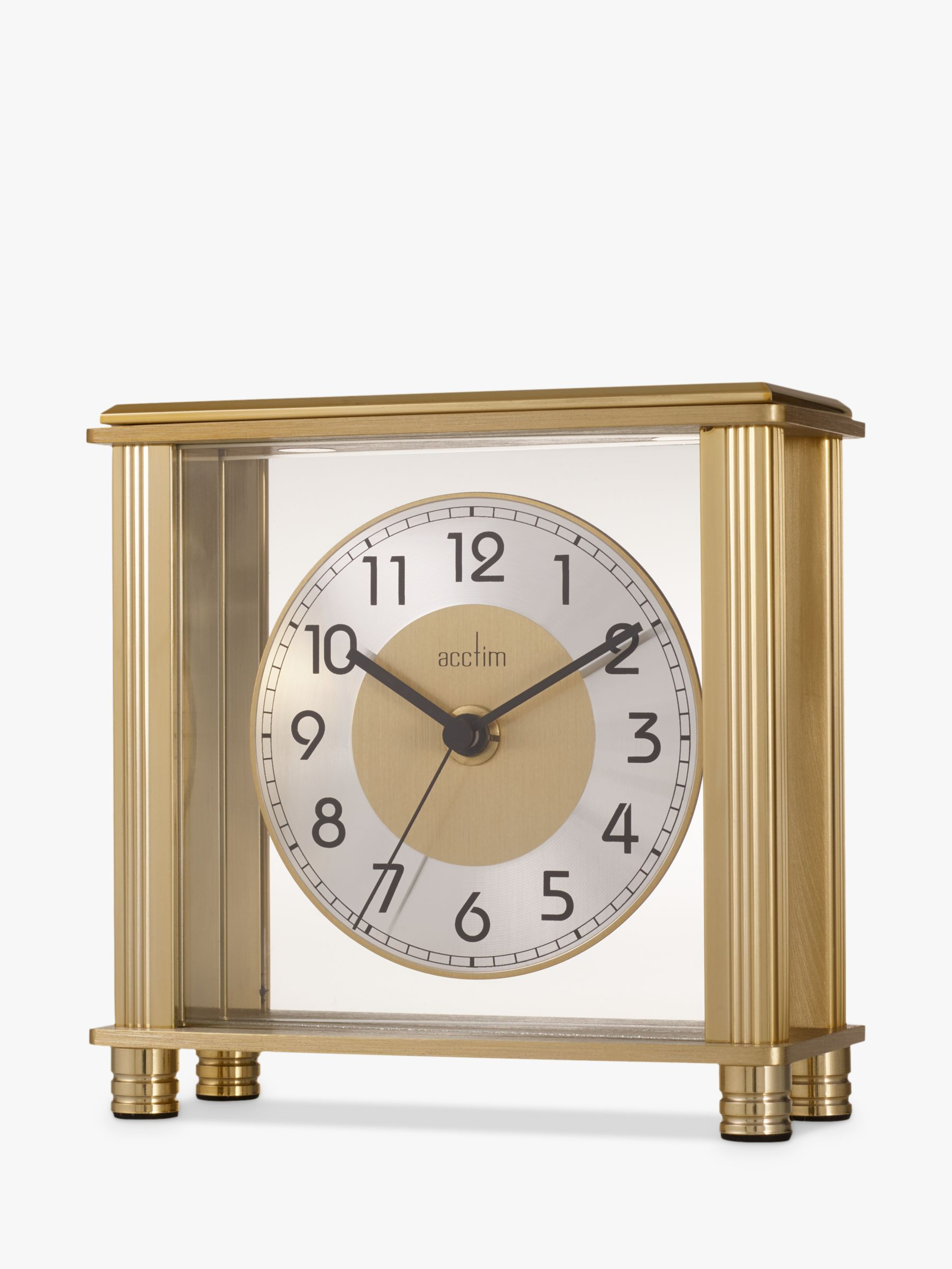 Acctim Hampden Mantel Clock, 14cm, Brass