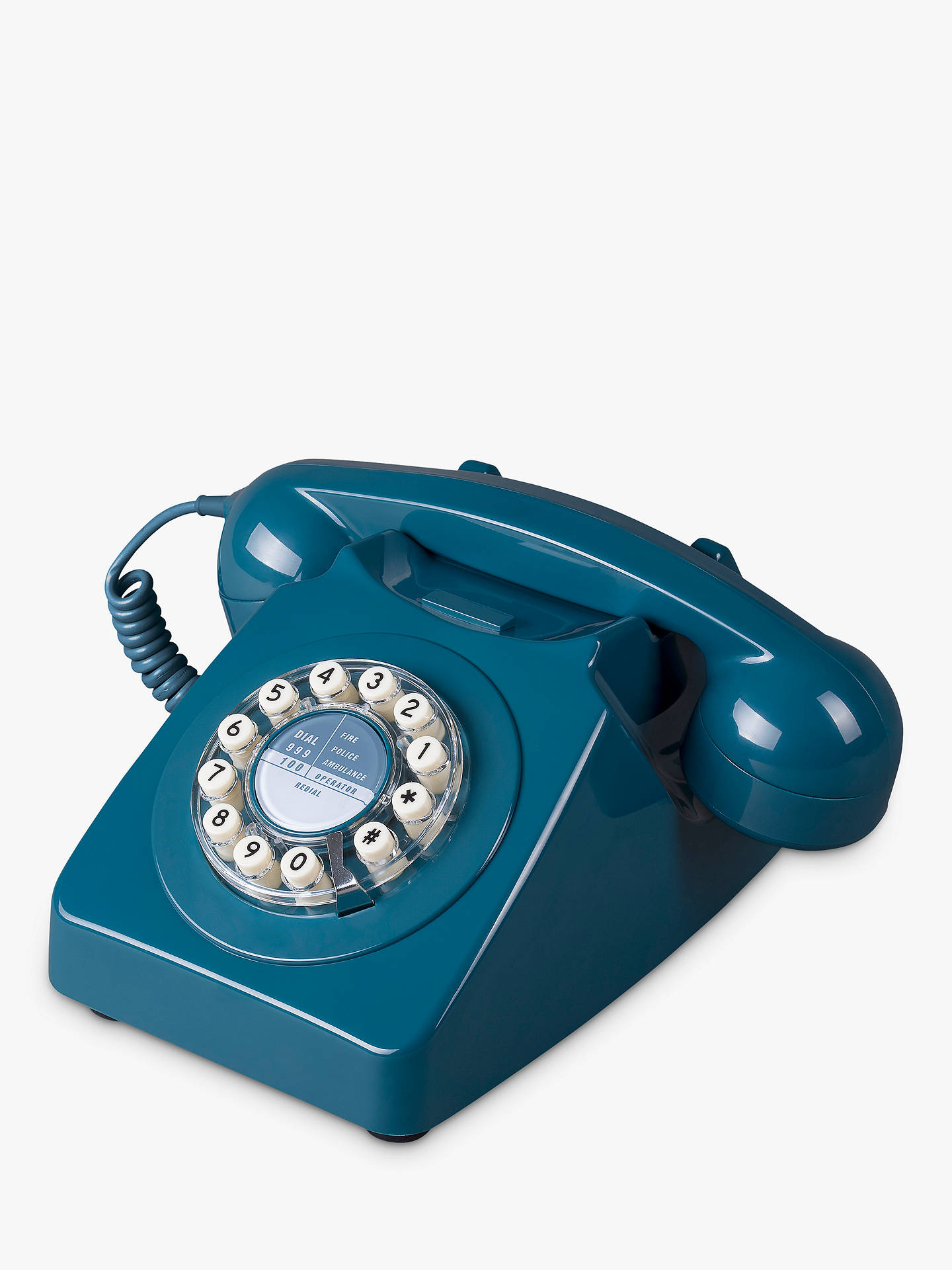 Buy Wild & Wolf 746 1960s Corded Telephone, Biscay Blue Online at johnlewis.com