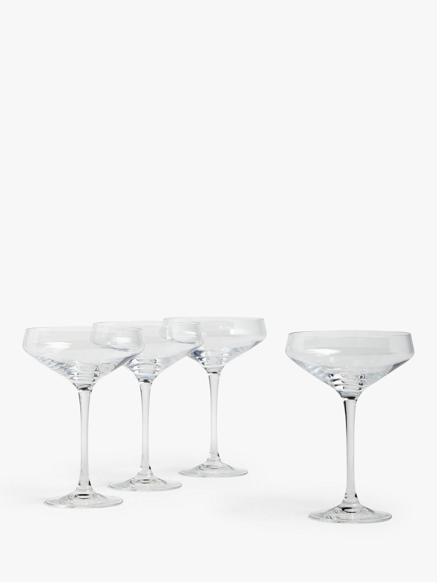 Buy House by John Lewis Cocktail Coupe Glasses, Set of 4, 300ml, Clear Online at johnlewis.com