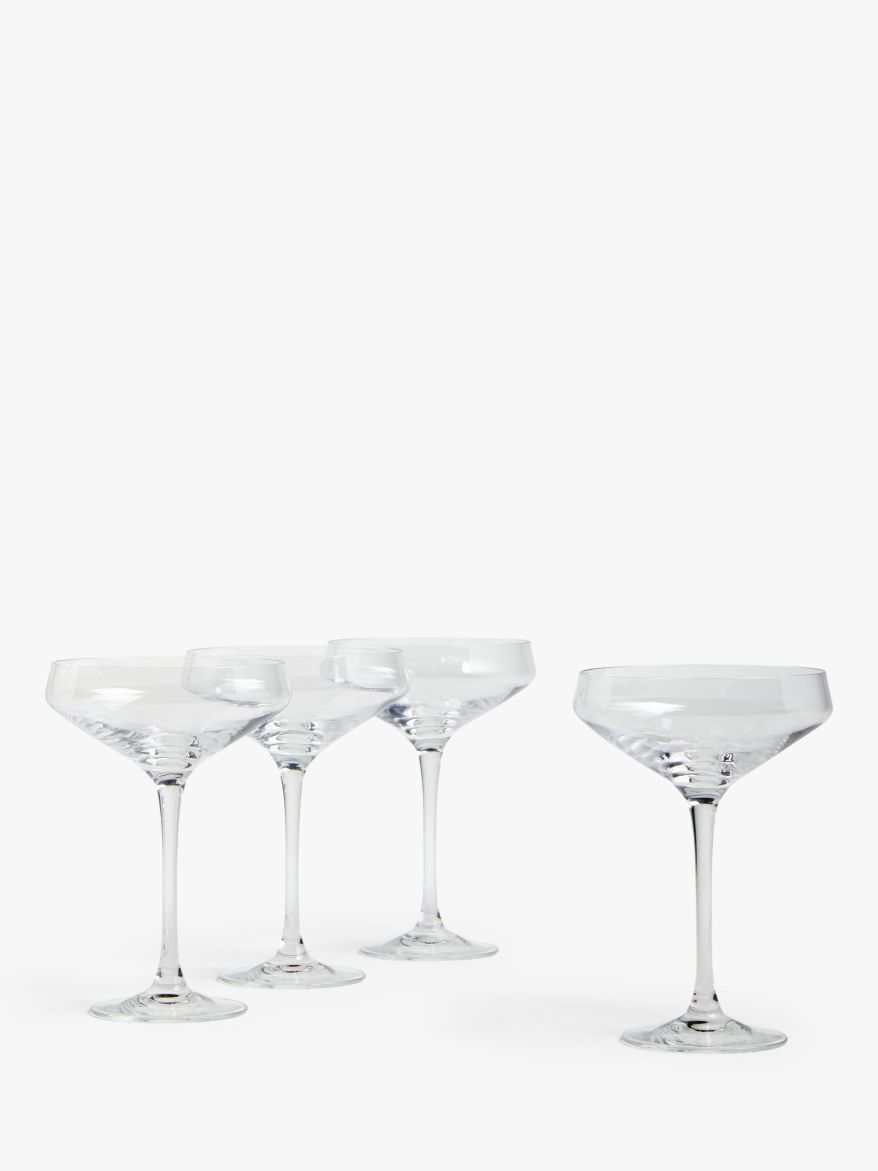 House By John Lewis Cocktail Coupe Glasses Set Of 4 300ml Clear At John Lewis Partners