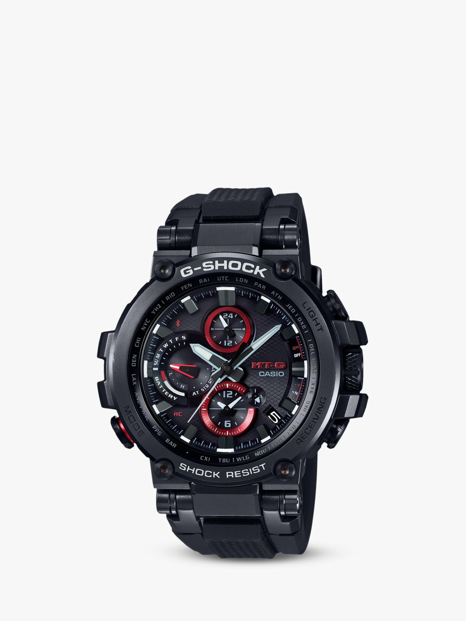 Casio Casio MTG-B1000B-1AER Men's G-Shock Connected Chronograph Bracelet Strap Watch, Black