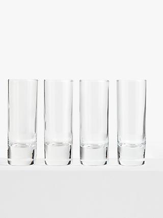 ANYDAY John Lewis & Partners Drink Shot Glasses, Set of 4, Clear