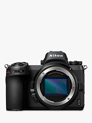 "Nikon Z6 Compact System Camera, 4K UHD, 24.5MP, Wi-Fi, Bluetooth, OLED EVF, 3.2"" Tiltable Touch Screen & FTZ Mount Adapter, Body Only"